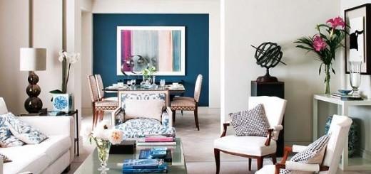 Trang trí nội thất cho căn phòng điểm nhấn màu xanh biển