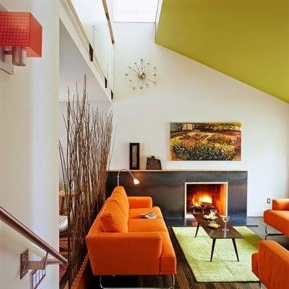 Sơn trần nhà màu đẹp, vàng úa biện pháp hữu hiệu trung hòa màu sắc trong căn phòng