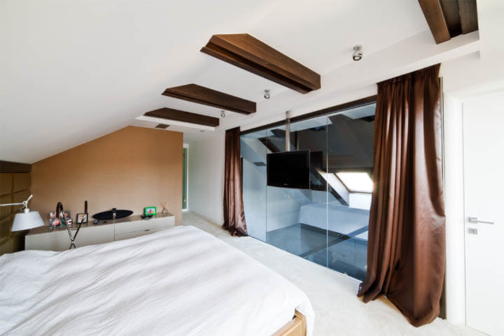 Sửa chữa tầng áp mái biệt thự làm phòng ngủ đơn cho những thành viên trẻ trong gia đình