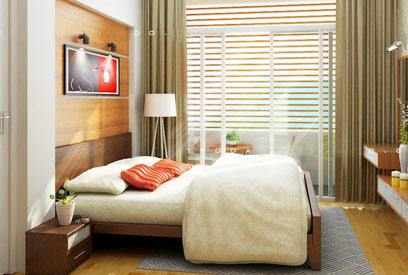 Sửa phòng ngủ nhà ống chật hẹp trở nên ấn tượng tại Hà Nội