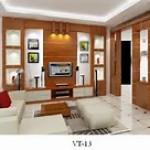 Sự kết hợp vừa mắt giữa tone màu trắng và bộ đồ gỗ làm cho phòng khách nhà ống đẹp đẽ