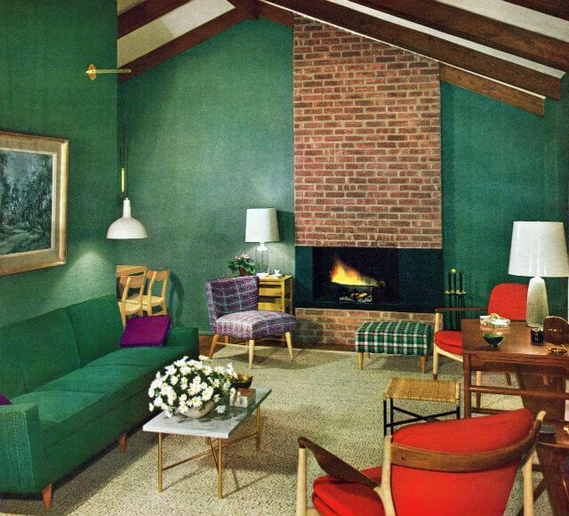 Dịch vụ sơn nhà đẹp với tông màu xanh núi rừng
