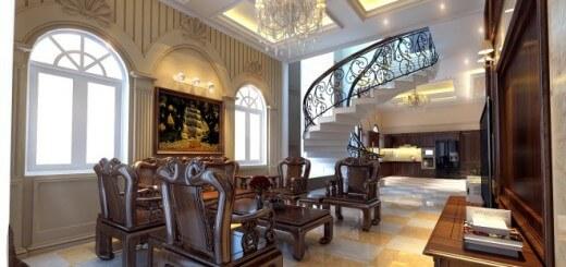 Cải tạo nhà 2 tầng theo phong cách bán cổ điển
