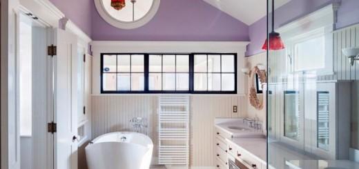 Màu sắc hiện đại cá tính cho phòng tắm