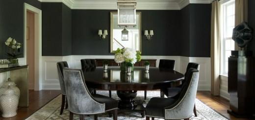 Màu sơn đen với phòng ăn rất ấn tượng