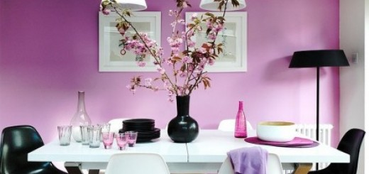 Sơn phòng ăn với tông màu tím huế lãng mạn