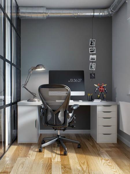 Cải tạo căn hộ 69m2 đầy sáng tạo,Góc làm việc, thiết kế tối giản, cá tính