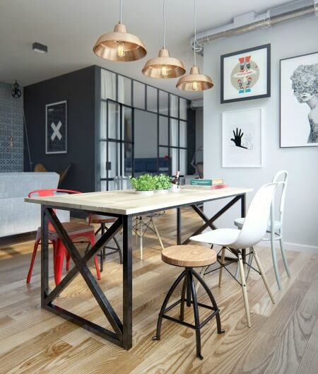 Cải tạo căn hộ 69m2 đầy sáng tạo,góc để chủ nhân nấu nướng, được thiết kế sinh động.