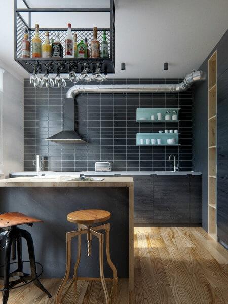 Cải tạo căn hộ 69m2 đầy sáng tạo,<em>Gian bếp bố trí hài hòa, tiết kiệm không gian, vừa giúp căn bếp thu hút.</em>