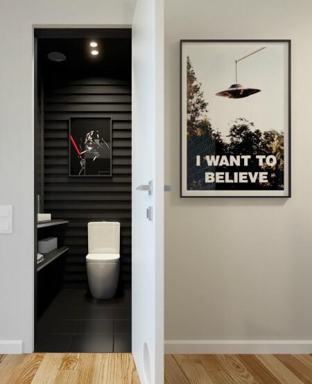Cải tạo căn hộ 69m2 đầy sáng tạo, nhà tắm thiết kế đơn giản, tiện dụng và đầy cá tính