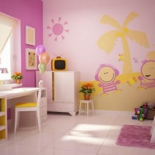 Sơn nhà chọn màu sắc phòng ngủ và học tập cho trẻ