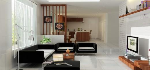 Màu sắc sơn nhà đối với thiết kế nội thất phòng khách
