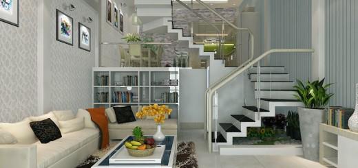 Phòng khách rộng rãi tiện nghi