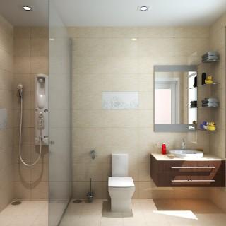 Sơn nhà với chi tiết nhỏ phong thủy trong nhà tắm