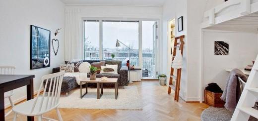 Sửa nhà căn hộ 30m2 thoáng sáng hiện đại