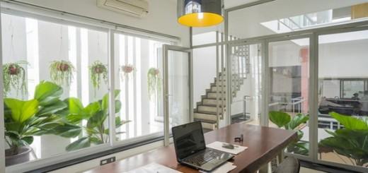 Sửa nhà với không gian xanh trong nhà phố
