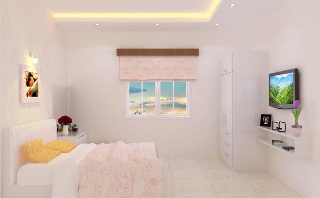 Thiết kế nhà ống chi phí 850 triệu, Gam màu hồng phấn cho phòng ngủ con gái thêm lãng mạn