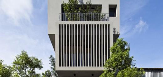 Thiết kế nhà đẹp 5 tầng ngập tràn nắng gió