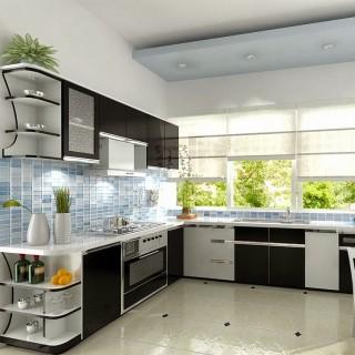 Mẹo cải tạo căn hộ với hệ tủ bếp chữ L thích hợp cho các không gian bếp nhỏ này.