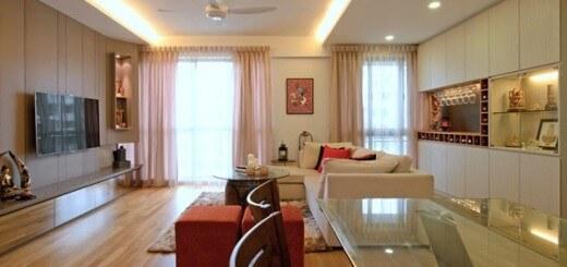 Mẫu thiết kế căn hộ 130m2 đẹp sang trọng