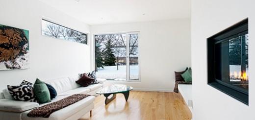 Phòng khách được bài trí theo phong cách tối giản nhưng vẫn đầy sang trọng, trong thiết kế nhà phố 2 tầng