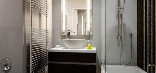 Phòng tắm trong căn hộ chung cư, thiết kế hiện đại, tiện nghi, sang trọng.