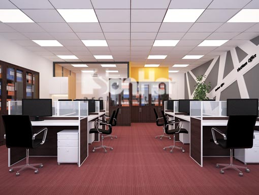 Dịch vụ sơn văn phòng đẹp chất lượng cao với gam màu xám cho văn phòng làm việc kiểu hiện đại, tạo cảm giác rộng rãi.