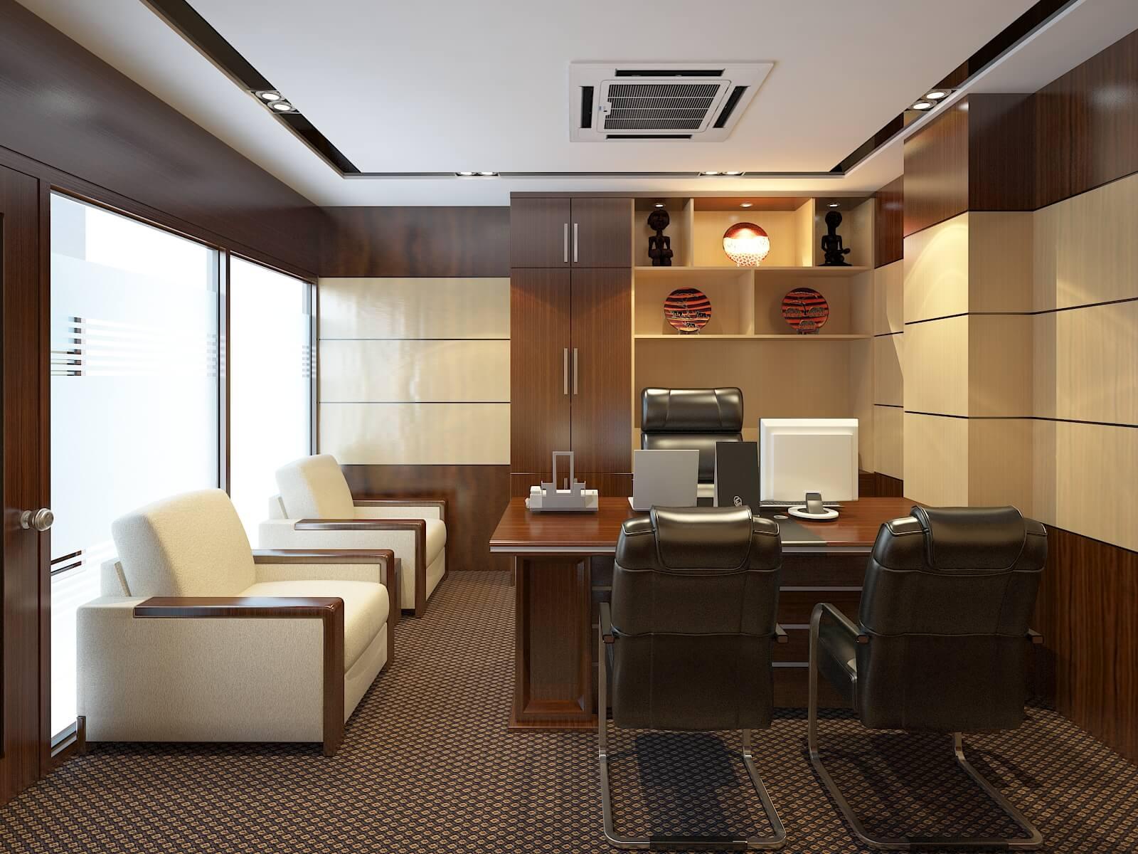 Không gian văn phòng sang trọng đầy ấn tượng sau khi Sơn văn phòng đẹp, chất lượng cao.