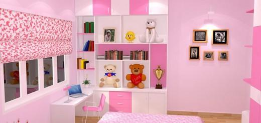 Tổng hợp 5 mẫu sơn phòng ngủ cho con đẹp nhất,màu hồng có thể thích hợp với mọi lứa tuổi, nếu khéo phối màu