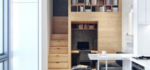 Thiết kế căn hộ 23m2 đầy đủ tiện nghi