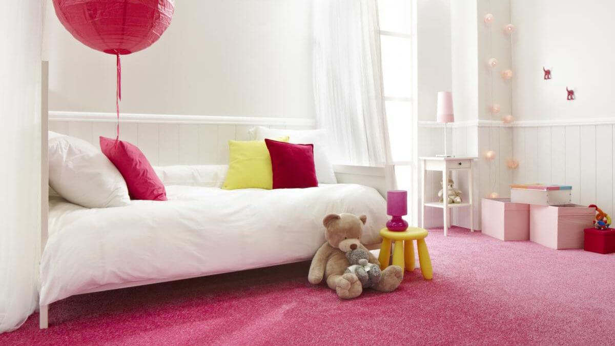 Sửa phòng ngủ cho con sắc mầu chủ đạo hồng trắng