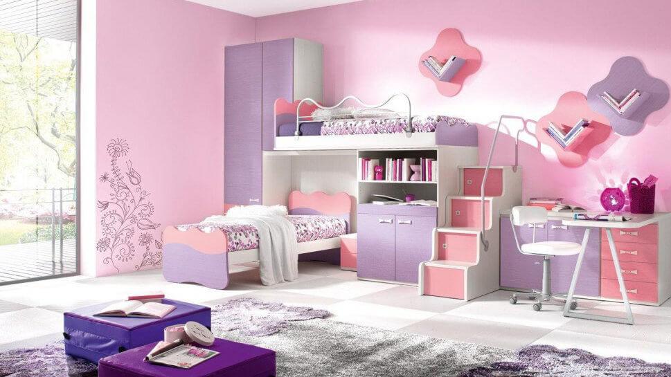 Sửa chữa phòng ngủ cho trẻ là con gái