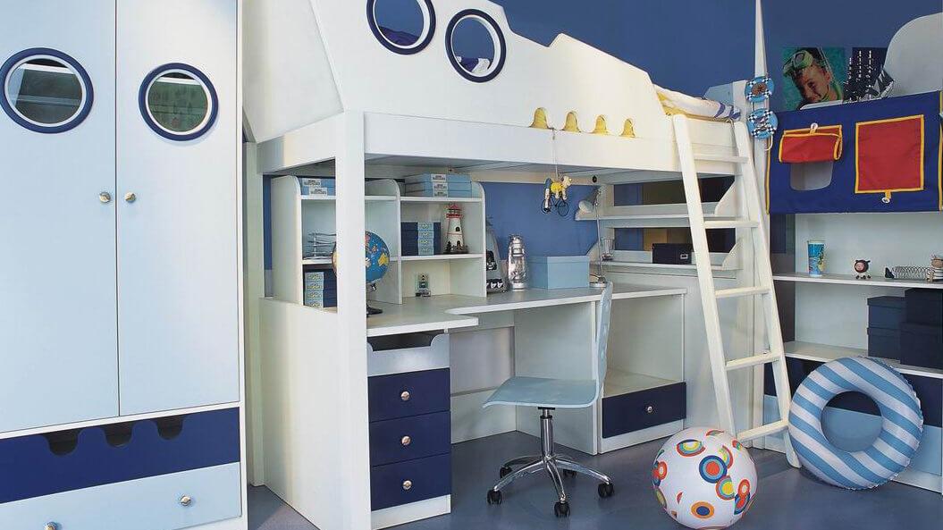 Sửa phòng ngủ cho bế yêu mầu xanh chủ đạo
