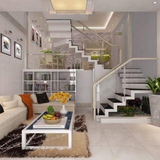 Thiết kế nhà 3 tầng với 2 giếng trời sáng thoáng