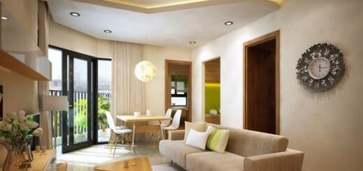 Cải tạo căn hộ với phòng khách và ăn liên thông tạo cảm giác thoáng mát và rộng rãi.