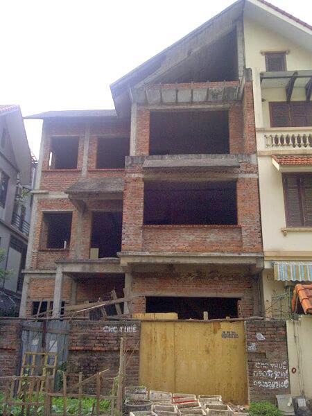 Công trình trước cải tạo sửa chữa nhà.