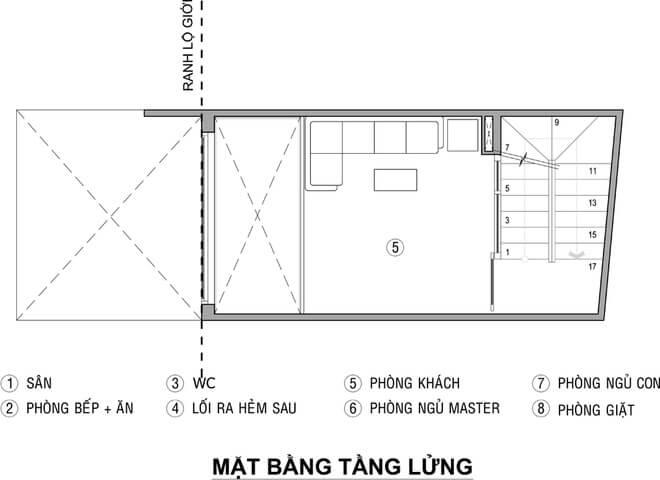 Mặt bằng thiết kế nhà 3 tầng