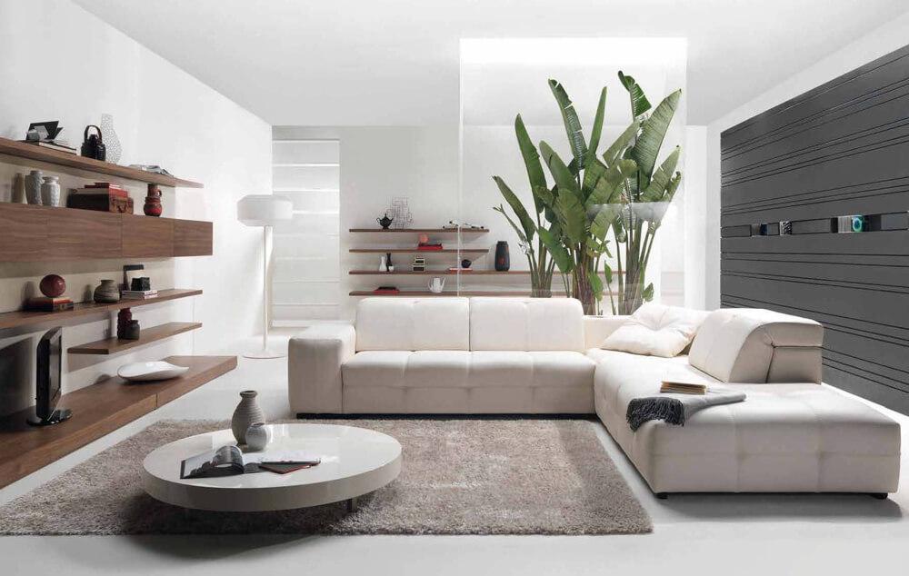 Một mẫu thiết kế nhà hai tầng với phòng khách nhỏ nhưng khá hiện đại và sang trọng