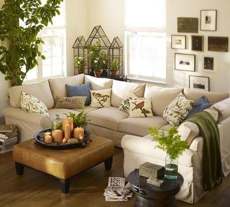 Phòng khách tông trắng kết hợp họa tiết cho chiếc sofa tạo cảm giác mới lạ, ấn tượng trong mẫu sơn nhà này.