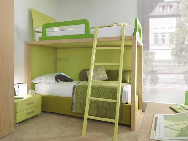 Phòng ngủ của con, sửa chữa cải tạo thiết kế đơn giản, nội thất bố trí hợp lý, tạo không gian thoáng đãng.