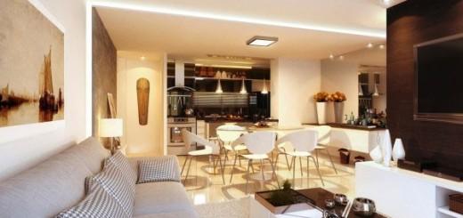 Phòng khách nhà chung cư sửa tận dụng tối đa từng khoảng trống để sắp đặt từng nội thất trang nhã cho ngôi nhà.