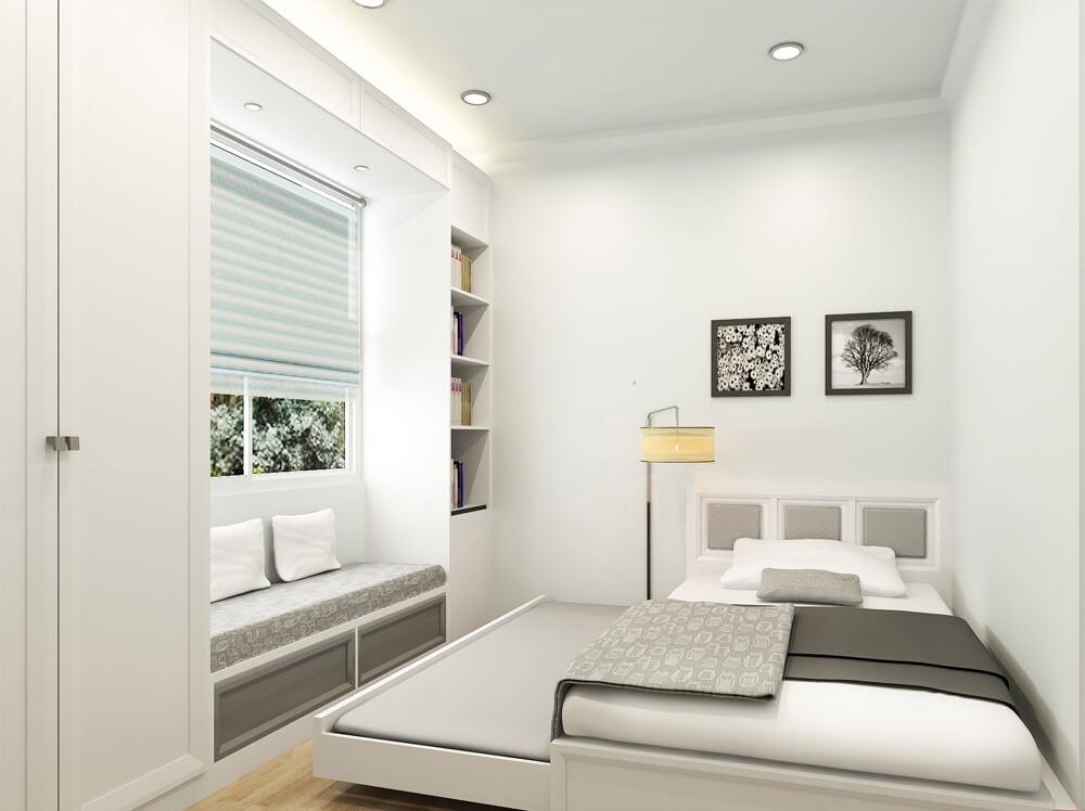 Phòng ngủ em trai, trong thiết kế nhà ống đơn giản nhưng trang nhã