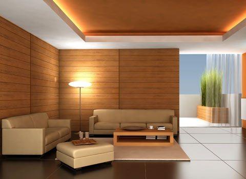 Nội thất phòng khách thiết kế nổi bật nhờ những họa tiết và cách sắp xếp hiệu quả và hợp lý.
