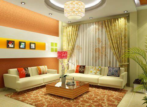 Với cách thiết kế nội thất phòng khách nhiều màu sắc, họa tiết cùng một phong cách và cách bố trí nội thất thể hiện sự mềm mại trong mẫu thiết kế này.