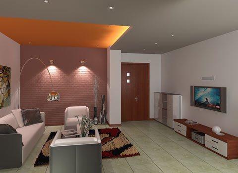 Mẫu thiết kế nội thất phòng khách đẹp hiện đại với cách bố trí nội thất theo chiều sâu của không gian với sự kết hợp với không gian phòng khách và phòng ăn, khu giải trí.