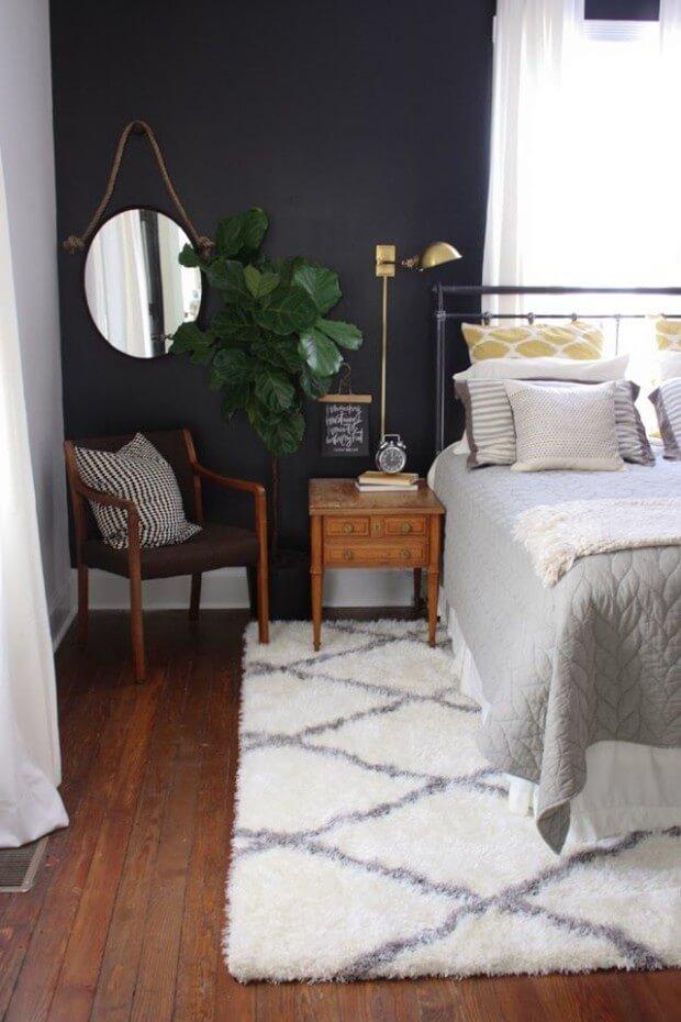 Thiết kế phòng ngủ nội thất tối giản cả về kiểu dáng lẫn màu sắc làm không gian trở nên rộng rãi và thoáng đãng hơn