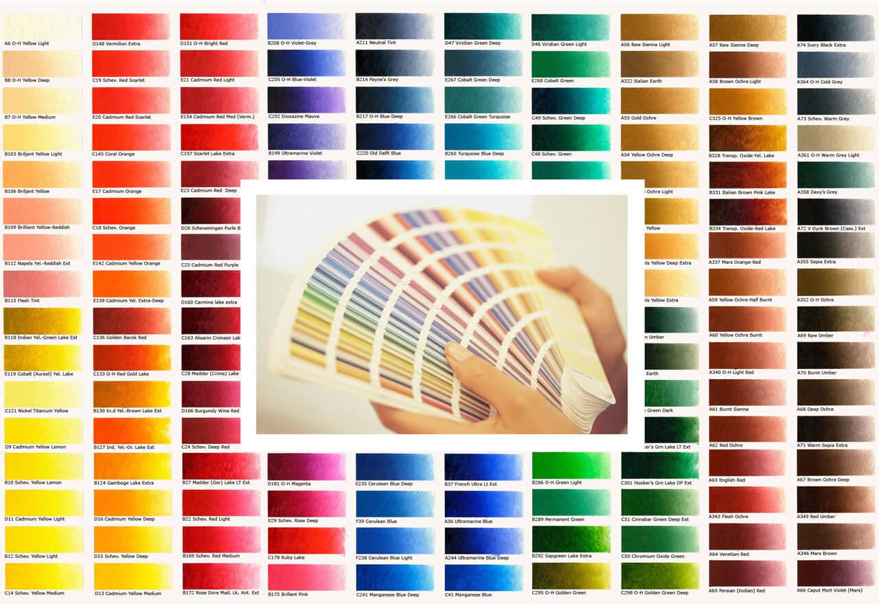 Bảng chỉ thị mầu sơn nhà đẹp chuẩn quốc tể công ty xây dựng tây hồ tổng hợp
