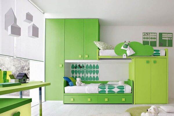 Phòng ngủ cho con, màu sắc ngộ nghĩnh, vui mắt, sau cải tạo nhà ống