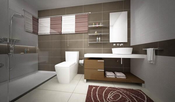 Cải tạo nhà ống, với không gian phòng tắm, tiện nghi hiện đại
