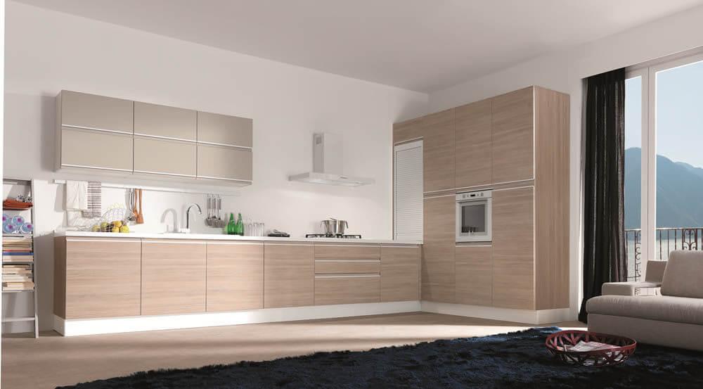 Cải tạo sửa chữa nhà chung cư với không gian bếp, thiết kế hệ tủ bếp được thiết kế đơn giản, tích hợp đầy đủ những công năng cần thiết cho việc nội trợ.